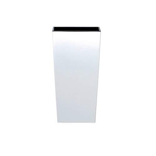 Prosperplast Maceta Alta 16,3 L Urbi Square de plástico con depósito en Color Blanco, 55 (Alto) (Ancho) x 29,5 (Profundo) cms, 55 cm