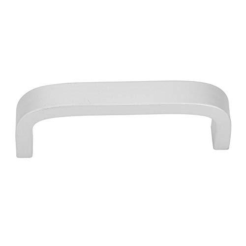 Moderne Aluminiumlegierungs-Silber-Kabinett-Griffe, quadratischer Möbel-Aufbereiter zieht einfachen Art-Garderobenschrank-Griff(3#)