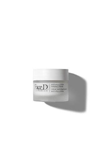 FaceD - Crema Viso Rassodante Antinquinamento con Acido Ialuronico, Vitamina E e SPF15, 30 ml