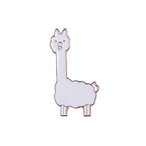 Broche Breastpin Broche Pins Alpaca - Broches De Esmalte De Piña Para Las Mujeres Broches De Dibujos Animados Abrigo Chaquetas De La Solapa Backpack Insignia De Moda Joyería Regalos Para Niños-Alpaca