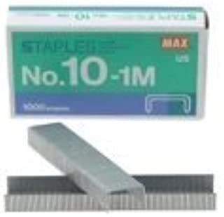 MAX Mini Staple No.10-1M for The use of Compact Handy staplers (50 Staples per Stick, 1,000 Staples per Box)