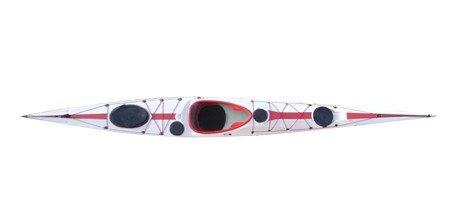Tahe Marine Wind 555, Farbe:Weiß-Rot;Ausstattung:Mit Skeg/Ruder;Material:TGC-Lite