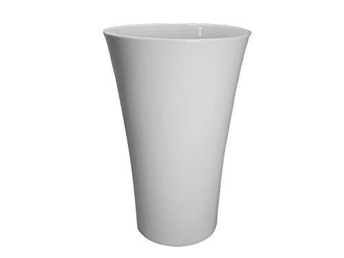 meindekoartikel Vase BRUG Weiss aus Keramik Verschiedene Größen (Ø 13 cm x Höhe 20 cm)