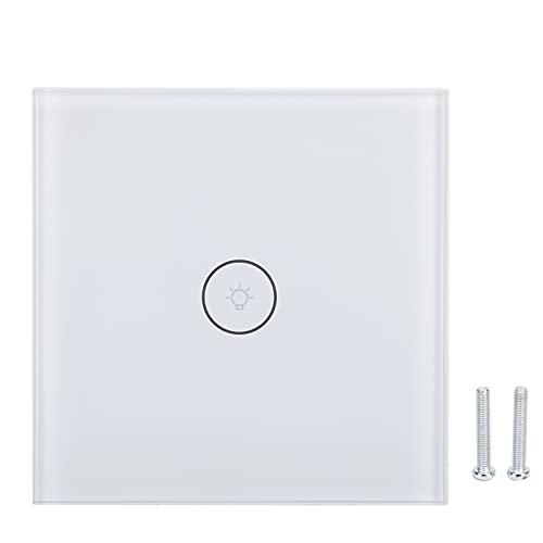 Interruptor de Control de Voz, Control de Voz de la Ayuda del Interruptor de WiFi para Interior(Blanco)