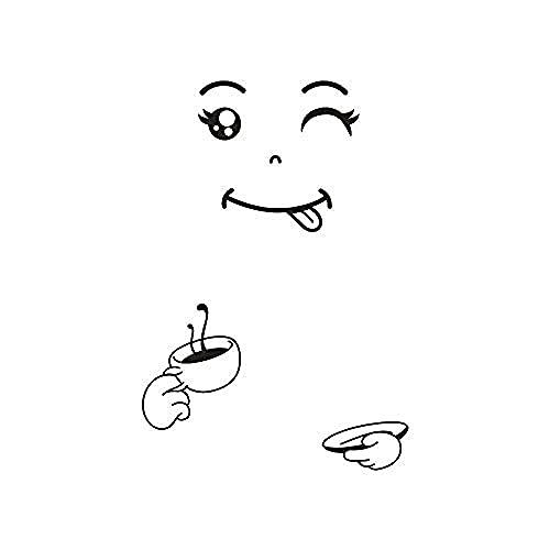 Pegatinas De Pared Y Murales Cute Ant Fridge Happy Delicious Face Cocina Nevera Refrigerador De Pared Hormigas Vinilo Arte Tatuajes De Pared Decoración 50X72Cm