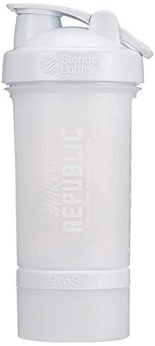 HARVEST REPUBLIC Blender Bottle ProStak Shaker, Weiß