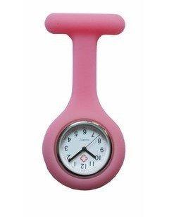 Boolavard TM Krankenschwesteruhr Schwesternuhr Pflegeruhr Silikon weiß rosa pink orange rot gelb hellblau blau dunkelblau grün lila schwarz (Pink)