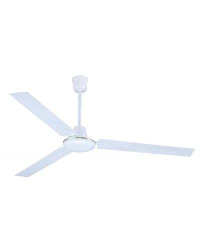 Ventilatore Vinco a 3 pale da soffitto a 5 velocità con selettore da parete per climatizzazione interni 70930 55W
