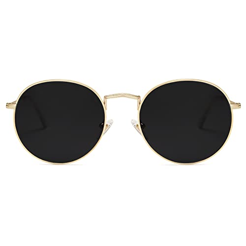 SOJOS Small Round Polarized Sunglasses for Women Men Classic Vintage...
