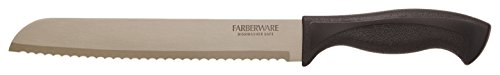 Farberware Armor Dishwasher Safe Bread Knife, 8', Black