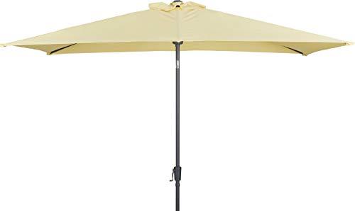 TrendLine Alu Marktschirm Lagos vanillegelb 200x300cm Ampelschirm Sonnenschirm