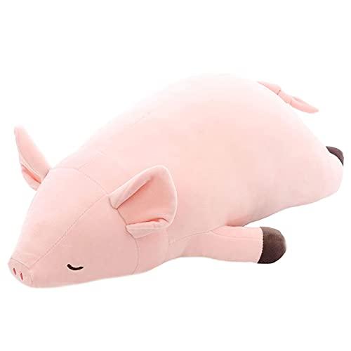 Demin Peluches de Peluche, Muñeca de Almohada de Peluche de Cerdo de Peluche, Dibujos Animados Pink Piggy Soft Relleno Animales Abrazando Almohada Juguete para niños Niñas Regalo de cumpleaños 50