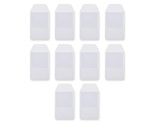 DSstyles 10 Stück Klar PVC Heavy Duty Pocket Protektoren Stifteetui für Hemdtasche Schule Krankenhaus Bürobedarf