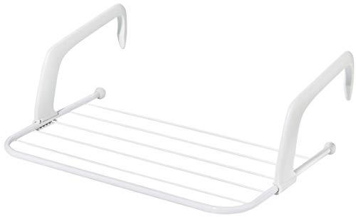 Heizungstrockner für Wäsche / Handtücher | klappbar | verstellbar | variable Aufhängung | 3 m Trockenlänge | Wäschetrockner Heizung – Balkon – Badewanne (weiß)