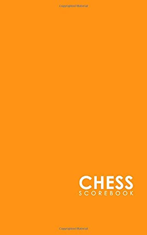 Chess Scorebook: Chess Match Log Book, Chess Recording Book, Chess Score Pad, Chess Notebook, Record Your Games, Log Wins Moves, Tactics & Strategy, Minimalist Orange Cover (Volume 19)