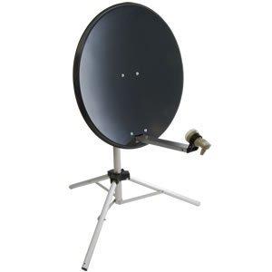 Satgear Portable 80cm Grey Satellite Dish Kit with Tripod, Single LNB, Satfinder and Flat Window...