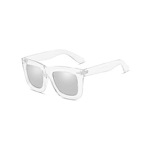 Heigmz tyj - Gafas de sol polarizadas para hombre y hombre, se pueden utilizar para barbacoas al aire libre, fiestas en la playa, golf, barrera de luz de conducción (color: transparente)