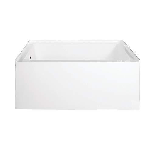 Kingston Brass VTDE483222L Ambry 48-Inch Acrylic Alcove Tub with Left Hand Drain Hole, White