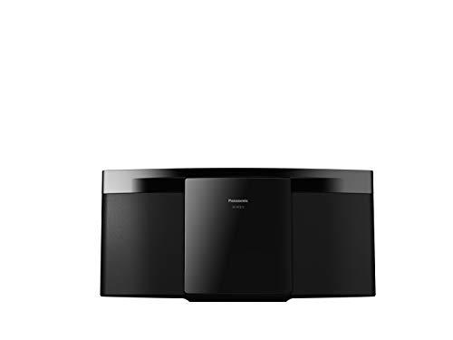 Panasonic SC-HC212EG-K Sistema Micro Hi-Fi a 2 Canali, 20 W, Radio Digitale DAB+, Lettore CD, Bluetooth, USB, Suoni Puri e Minima Distorsione, Design Sottile e Contemporaneo, Montabile a Parete, Nero
