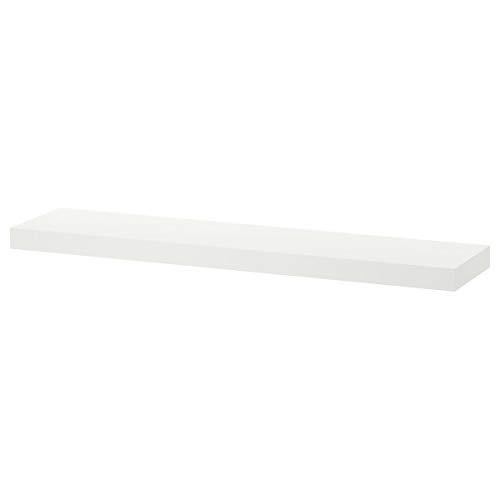 IKEA LACK wandplank wit (26x110 cm) met verborgen bevestigingsmateriaal.