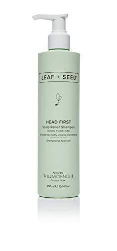 Wild Science Lab LEAF + SEED Head First Scalp Relief Shampoo, Stimulate hair growth vitality, volume...
