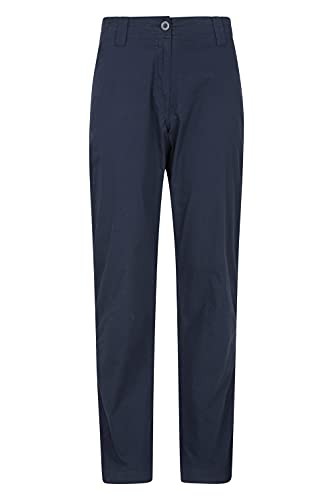Mountain Warehouse Coastal Stretch Womens Trousers - Regular Length, Lots of Pockets, Breathable, Lightweight Ladies Pants -Best for Walking, Hiking, Outdoors & Trekking Bleu Marine 42