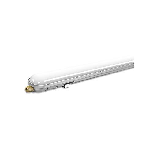 V-TAC 48W IP65 Weatherproof 5ft LED Batten Tube Light Ideal für Außenparkplätze, Warenlager, Fabriken (1480x76x66mm) Enthält 1 6000K Weiß 20000 Std Lebensdauer