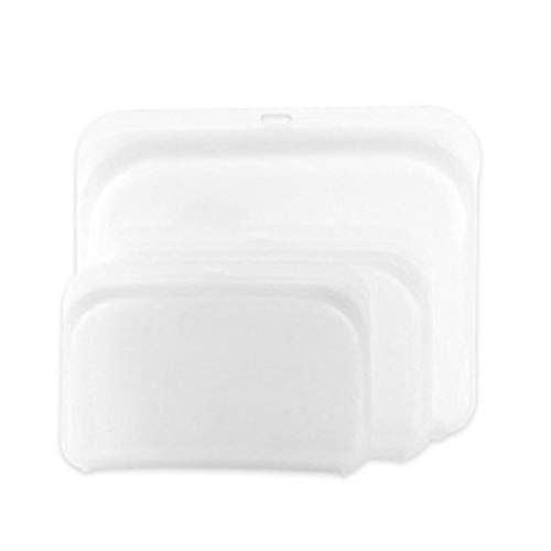 Airtight Seal Food Storage Bag 3 Pieces PEVA Zipper Reusable Food Storage Bags Leakproof Food Saving Food Seal