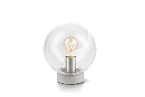LIFA LIVING Moderne Tafellamp, Glazen Nachtlamp, Ronde Bureaulamp, Decoratieve Tafellamp voor Woonkamer, Slaapkamer, Kantoor