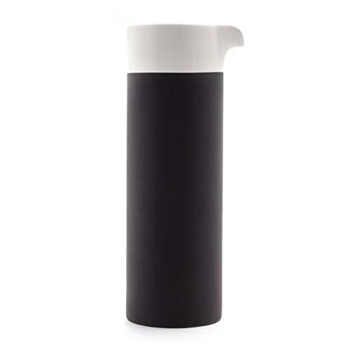 Magisso Selbst abkühlende Karaffe 0,75 L, Keramik, schwarz/weiß, 9.7 x 8 x 24.2 cm