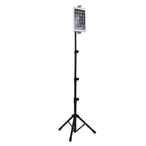 Soporte para trípode para Tableta, trípode escalable Giratorio de 360 ° Soporte Ajustable de aleación de Aluminio para Tableta de teléfono de 7 a 12 Pulgadas de 55 cm a 145 cm