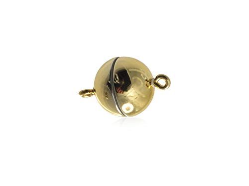 Creative-kralen magneetsluiting bal 12 mm voor sieraden 3 stuks Made in Germany extra sterke magneet voor armband ketting goud glanzend
