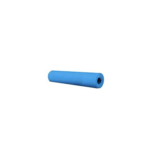 Tapis de yoga de voyage | Tapis de Yoga 4MM Épais Tapis de Yoga Durable Exercice Antidérapant Tapis de Fitness Tapis Perdre du Poids Tapis de Yoga Antidérapant Fitness Exercice Workout-Sky Blue -
