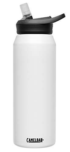 CamelBak eddy+ Vacuum Stainless Insulated Water Bottle, 32 oz, White