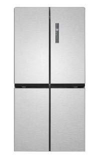 Bomann KG 7307 Multi Door Side-by-Side - No Frost - Multi Airflow System - 469 Liter, Edelstahl-Optik - A+
