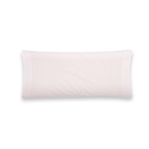 Sancarlos - Funda de almohada para cama, 100% Algodón percal, Color blanco, Cama de 135 cm