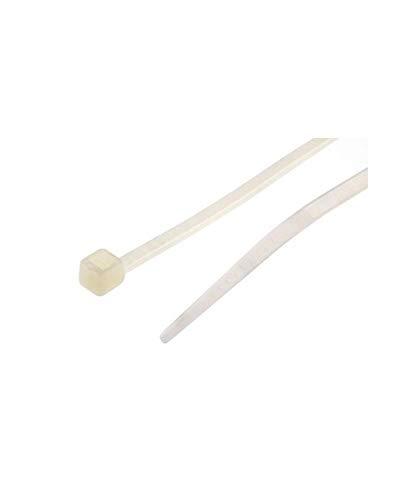 100X Kabelbinder Standard mit Kunststoffzungenverschluss 4,8 X 280 weiß Wurth