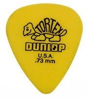 Dunlop 418 Púas TORTEX STANDARD amarillas 0.73 mm