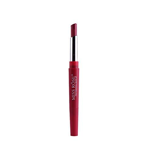 Muyise Rouge à LèVres 8 Couleurs Ventedouble Fin Durable Crayon à LèVres ImperméAble BâTon Crayon Facile à Porter Crayon à LèVres(Rouge,B)