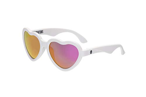 Babiators Blue Series UV Protection Children's Sunglasses, White Heart, 3-5 Years