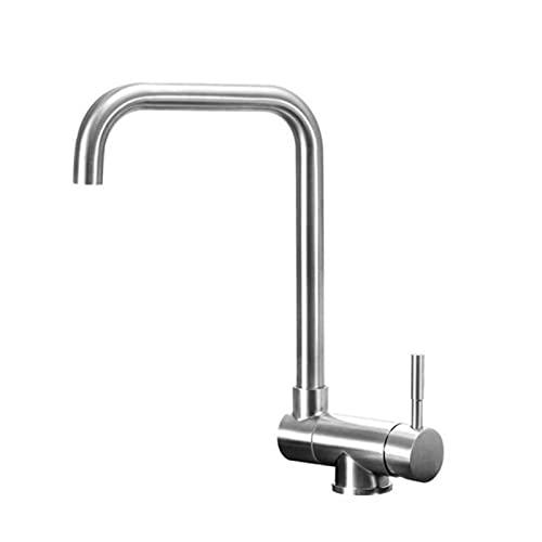 Grifo De Cocina 360° Giratorio Mezclador Agua Fria Y Caliente Disponible Monomando Lavabo con Moderno Práctico Monomandogiratorio Sin Plomo