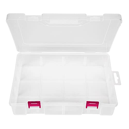 Caja de almacenamiento portátil Organizador de escritorio transparente para almacenamiento de escritorio Uso doméstico de oficina(Red button)