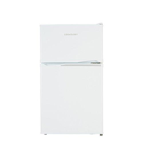 Cookology UCFF87 47cm Freestanding Undercounter 2 Door Fridge Freezer (White)