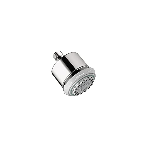hansgrohe Clubmaster 4-inch Easy Clean Easy Install Showerhead Modern 3-Spray Full, Pulsating Massage, Soft spray with QuickClean in Chrome, 28496001
