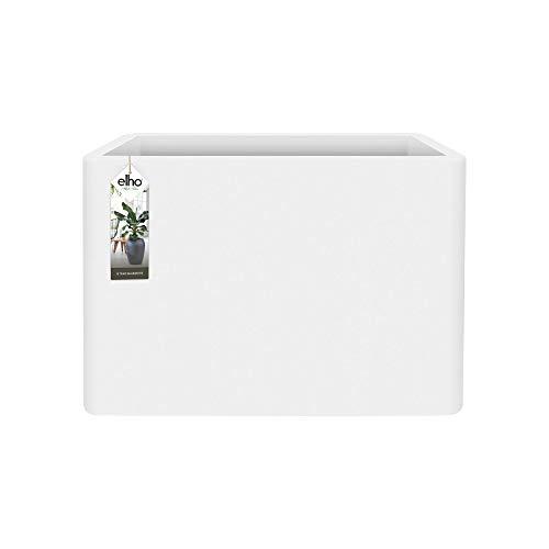 Elho Pure Soft Brick Divider Macetero con Ruedas, Blanco, 80 cm