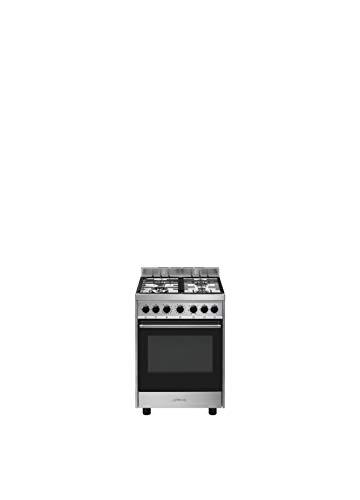 Smeg B601GMXI9 - Cocina (Cocina independiente, Acero inoxidable, Giratorio, Acero inoxidable, Frente, Encimera de gas)