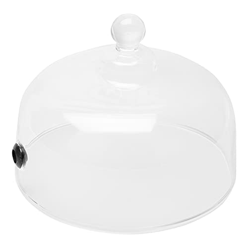 UPKOCH Glass Cake Stand Cover Dessert Cheese Smoking Cloche Dome Bell Jar Display Dome Cupcake Display Stand Cover for Home Party