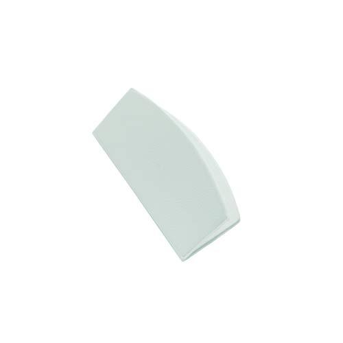 GARDINIA Magnet-Clip, Für Flächenvorhänge als Griffschutz und zur Dekoration, 3,3 x 6,2 cm, Kunststoff, Weiß