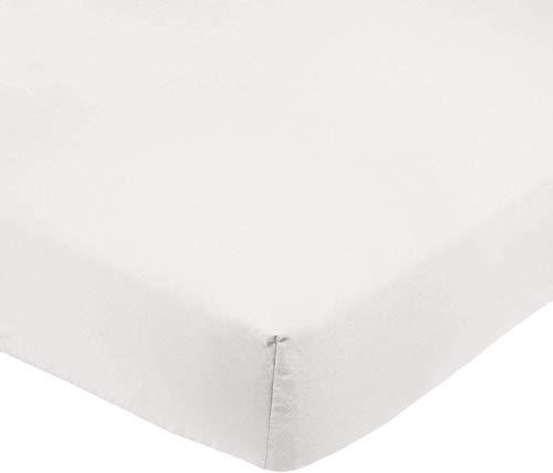 Amazon Basics FTD, Sábanas Ajustables, 160 x 200 x 30 cm, Crema