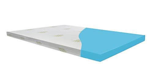 Silverprince Colchón Topper ortopédico viscoelástico, de Espuma con Efecto Memoria, Densidad de 55, Grosor 5 cm Cara Inferior Tejido Airfresh 3D Transpirable Aloe Vera Easy Clean (80X190)